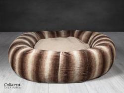 Brown Luxury Deluxe Donut Dog Bed